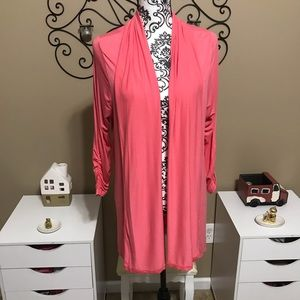 Lane Bryant Long Lightweight Pink Cardigan 14/16